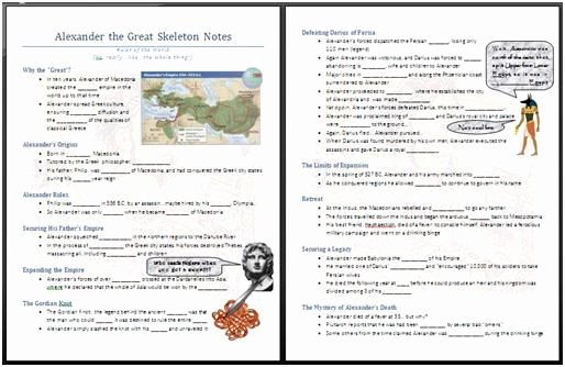 Alexander the Great Worksheet Inspirational Alexander the Great Worksheet I Made these Skeleton Notes