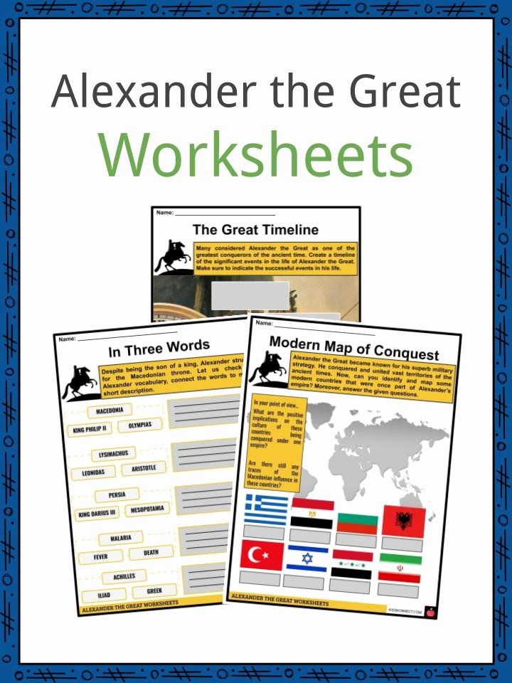 Alexander the Great Worksheet New Alexander the Great Facts & Worksheets