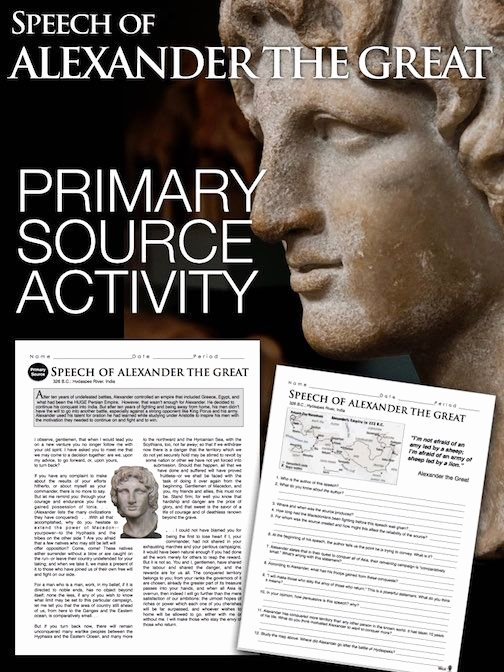 Alexander the Great Worksheet New Alexander the Great Primary source Worksheet Teaches About