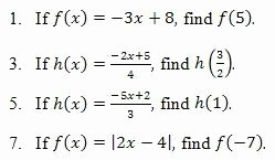 Algebra 1 Function Notation Worksheet Awesome Evaluating Functions Worksheet and Answer Key Free Pdf On