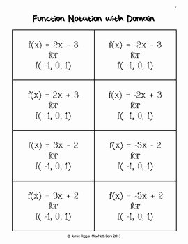 Algebra 1 Function Notation Worksheet Best Of Function Match Up Matching Functions Graphs Mappings