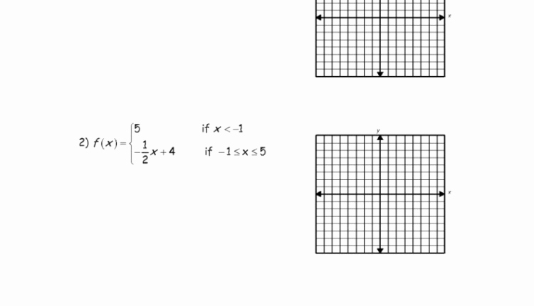 Algebra 1 Function Notation Worksheet Fresh the Best Template Of Graphs Piecewise Functions