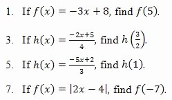 Algebra 1 Function Notation Worksheet Lovely Evaluating Functions Worksheet and Answer Key Free Pdf On