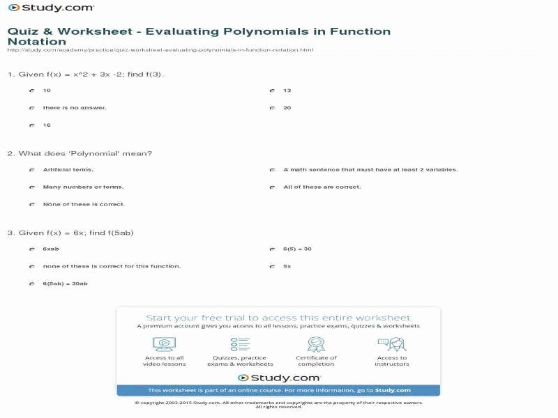 Algebra 1 Function Notation Worksheet Luxury Function Operations Worksheet