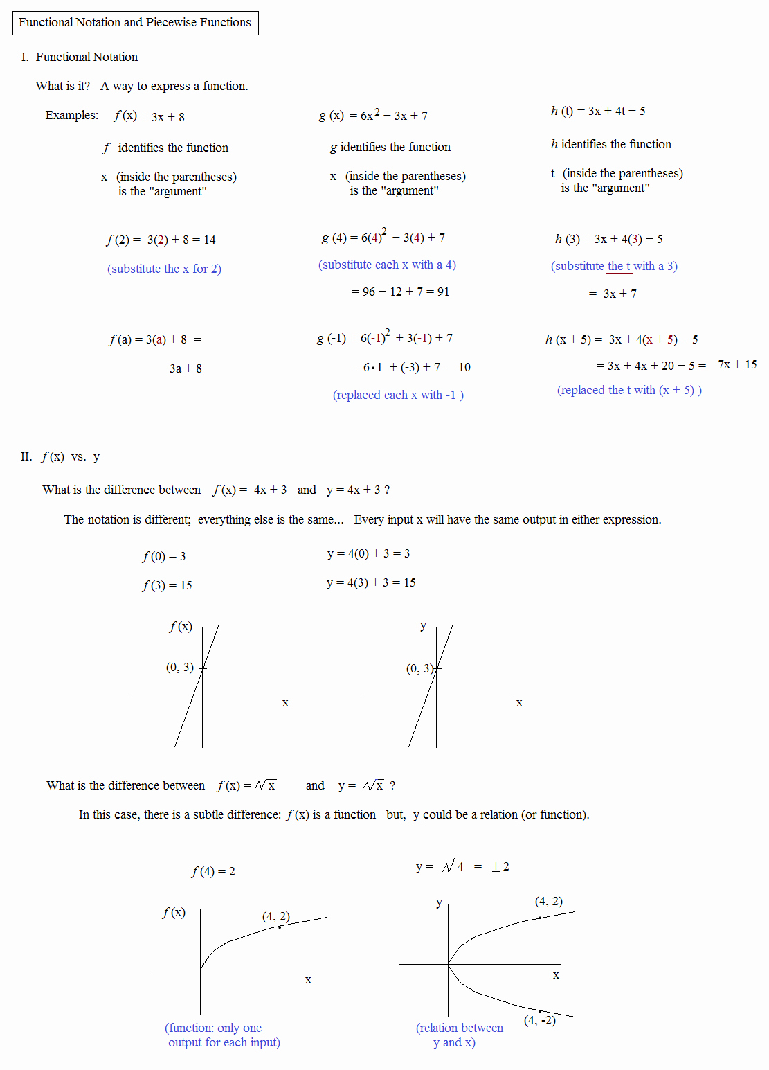 Algebra 1 Function Notation Worksheet Luxury Math Plane Piecewise Functions & F X Notation