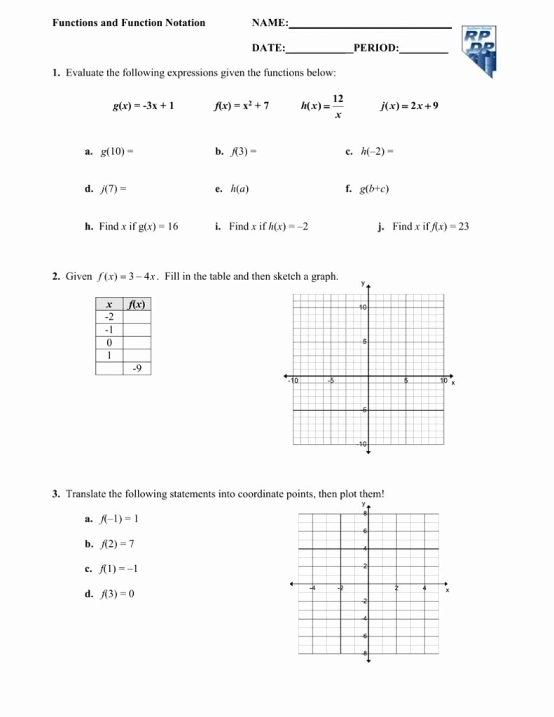 Algebra 1 Function Notation Worksheet Unique Download This Functions and Function Notation Date Period