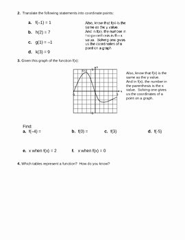 Algebra 1 Functions Worksheet Awesome Function Notation Worksheet 2 by Camfan54