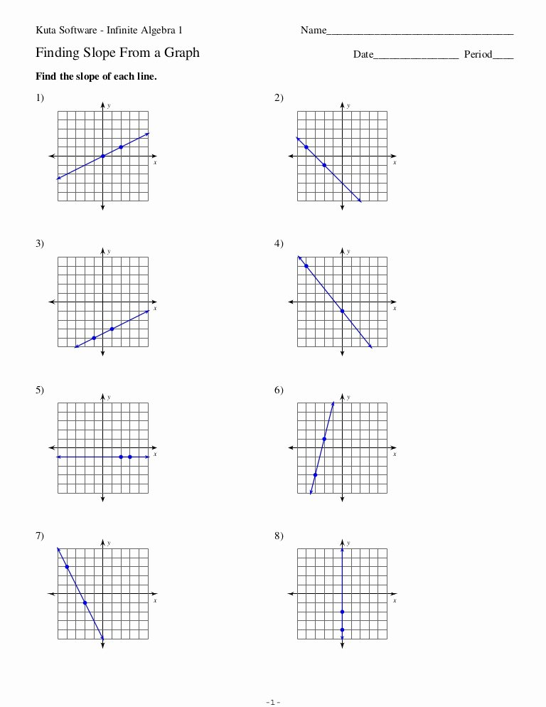 Algebra 1 Inequalities Worksheet Fresh 6 1 Slope From A Graph No Key
