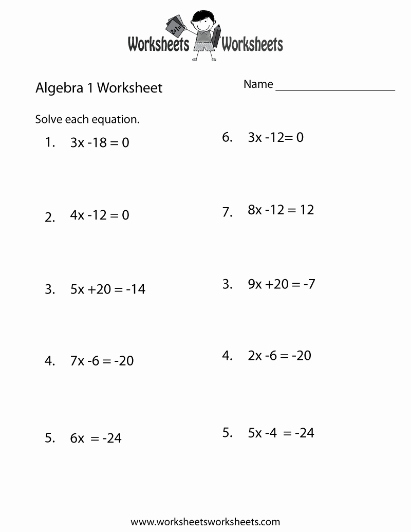 Algebra 1 Inequalities Worksheet Lovely 13 Best Of English 9th Grade Vocabulary Worksheets