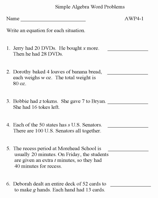 Algebra 1 Word Problems Worksheet Awesome Bluebonkers Algebra Word Problems P1 Free