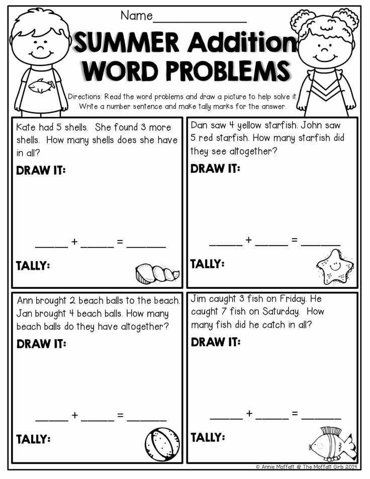 Algebra 1 Word Problems Worksheet Awesome Summer Review No Prep Kindergarten