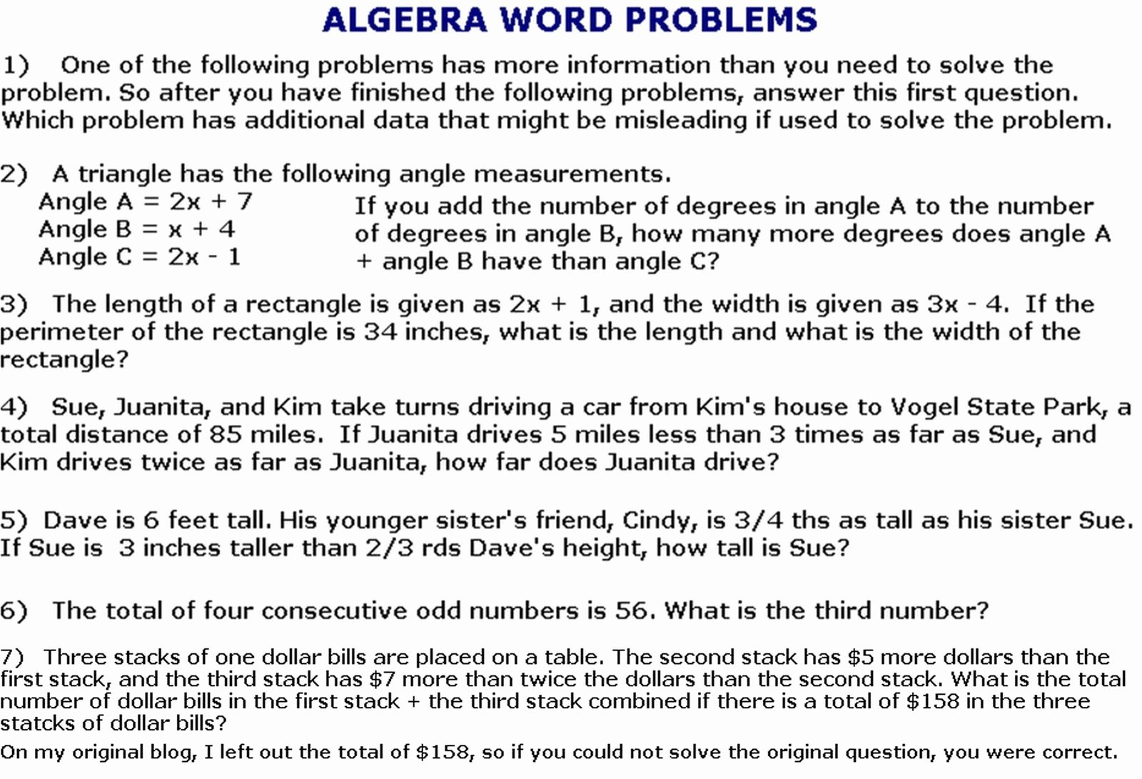 Algebra 1 Word Problems Worksheet Beautiful Cobb Adult Ed Math 2011 05 15