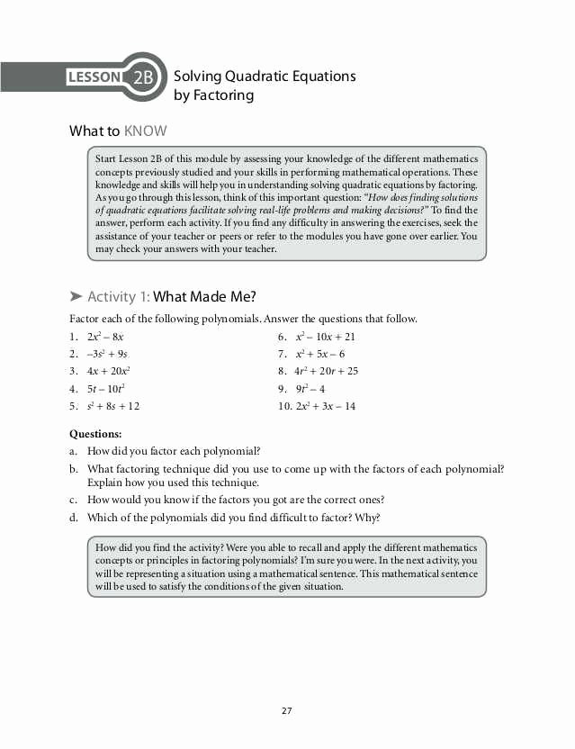 Algebra 2 Factoring Worksheet Elegant Factoring by Grouping Worksheet Algebra 2 Answers