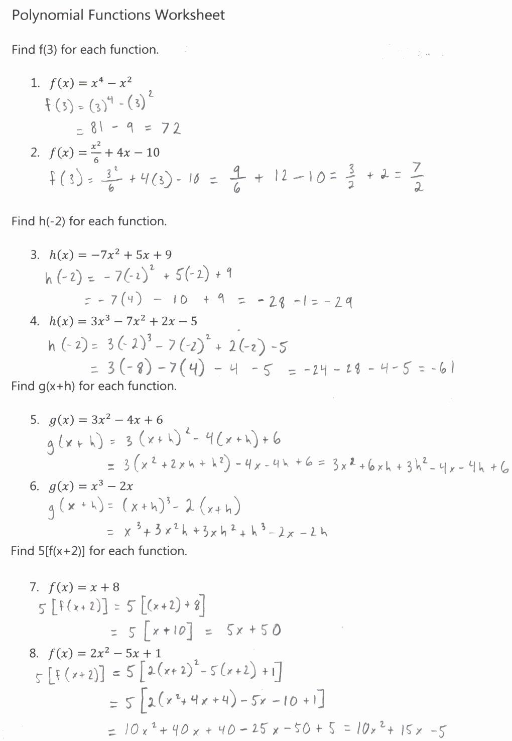 2009 Algebra 2 May