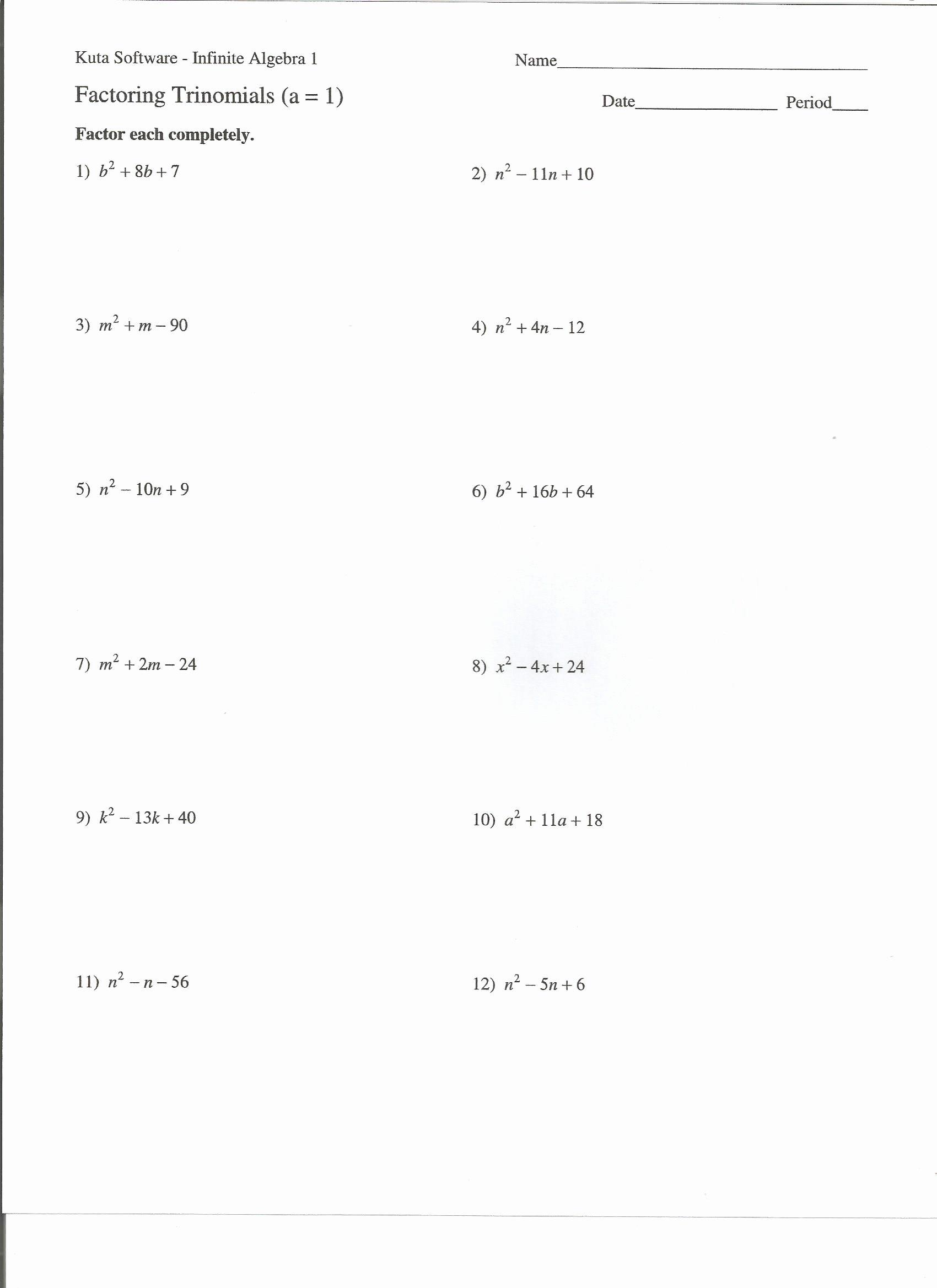 Algebra 2 Factoring Worksheet Inspirational Worksheets Algebra 2 Factoring Worksheet Cheatslist Free