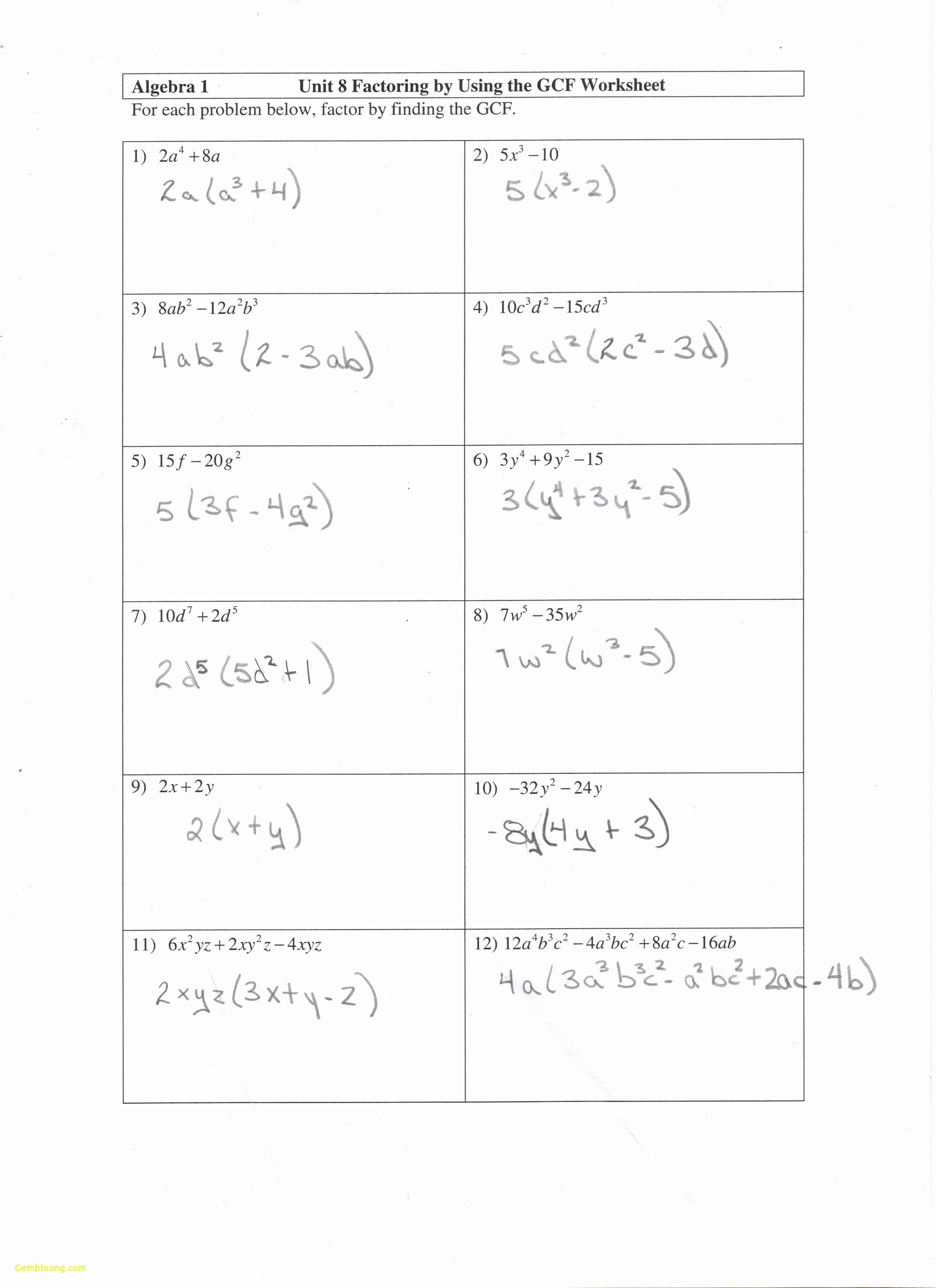Algebra 2 Factoring Worksheet Unique Factoring Quadratics Worksheet Cramerforcongress