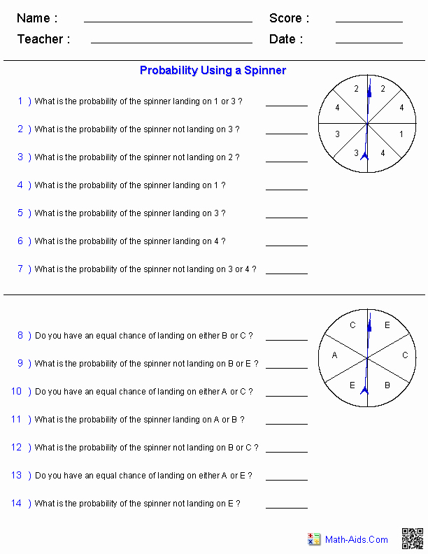 Algebra 2 Probability Worksheet Inspirational Probability Worksheets