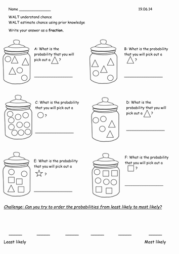 Algebra 2 Probability Worksheet Inspirational Year 2 Probability Chance Worksheets by Rebeccaremnant