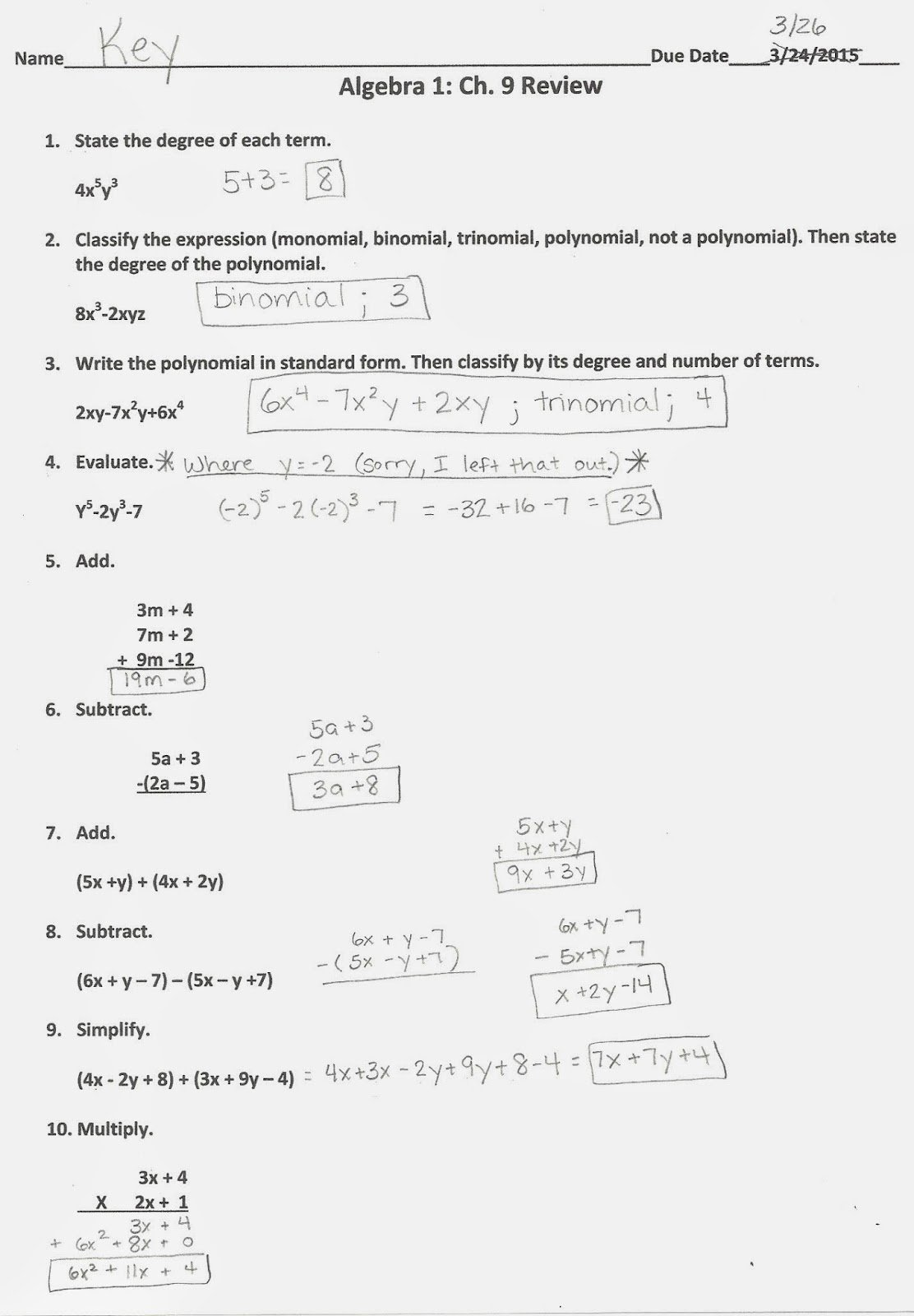 Algebra 2 Review Worksheet Inspirational Algebra Alerts Algebra 1 and 2 Algebra 1 Chapter 9
