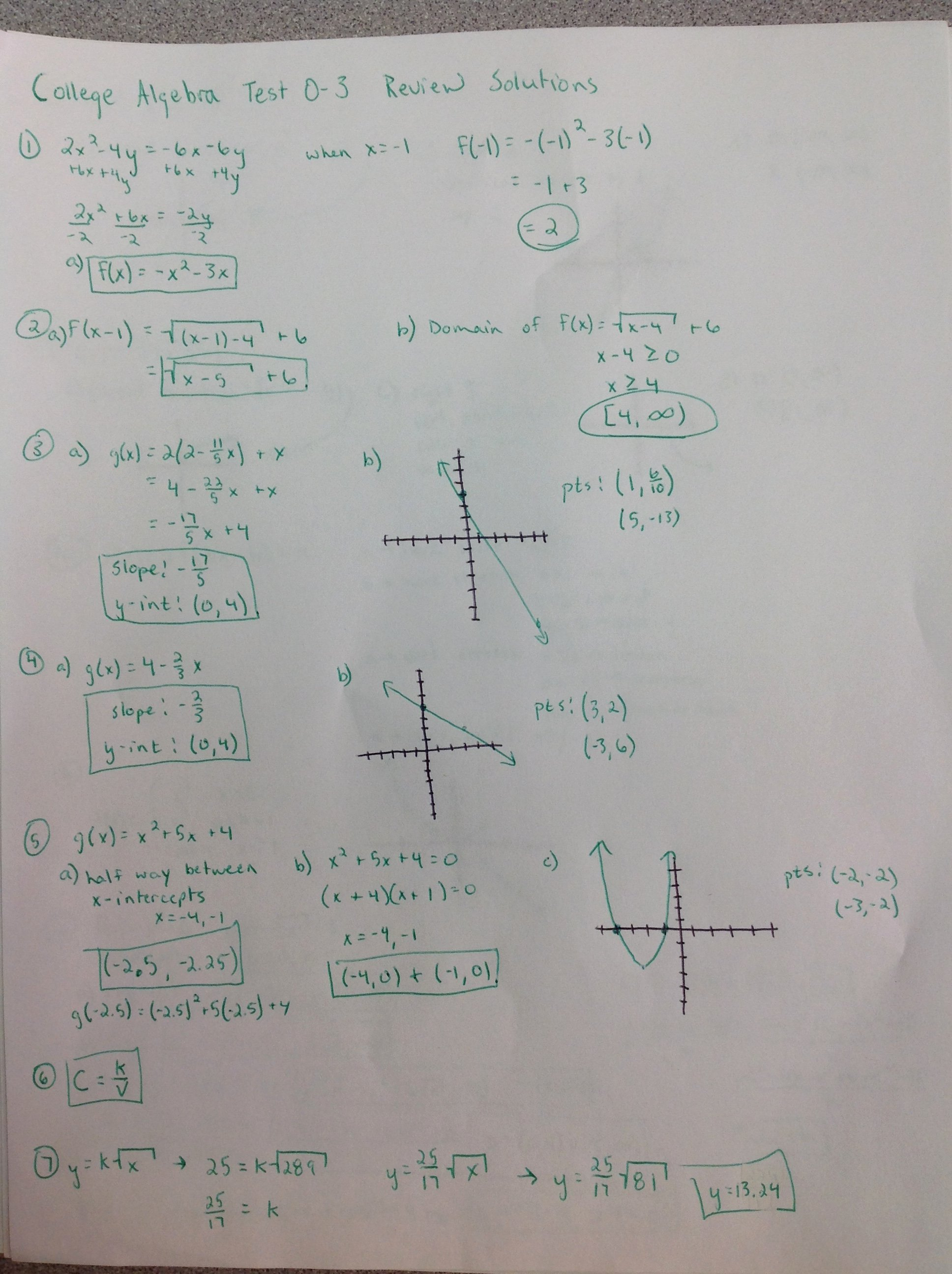 Algebra 2 Review Worksheet Unique College Algebra Thscollegealgebra