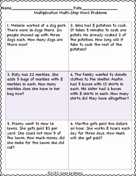 Algebra 2 Word Problems Worksheet Inspirational Multi Step Multiplication Word Problems Worksheets by Geez