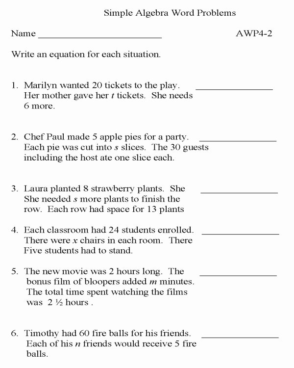 Algebra 2 Word Problems Worksheet Luxury Bluebonkers Algebra Word Problems P2 Free