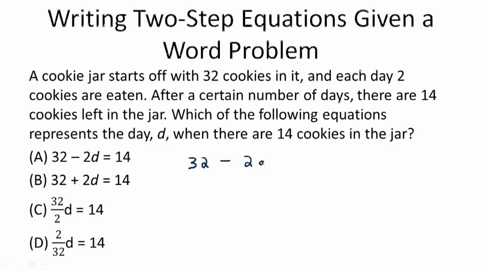 Algebra 2 Word Problems Worksheet Luxury Multi Step Equations Video Algebra