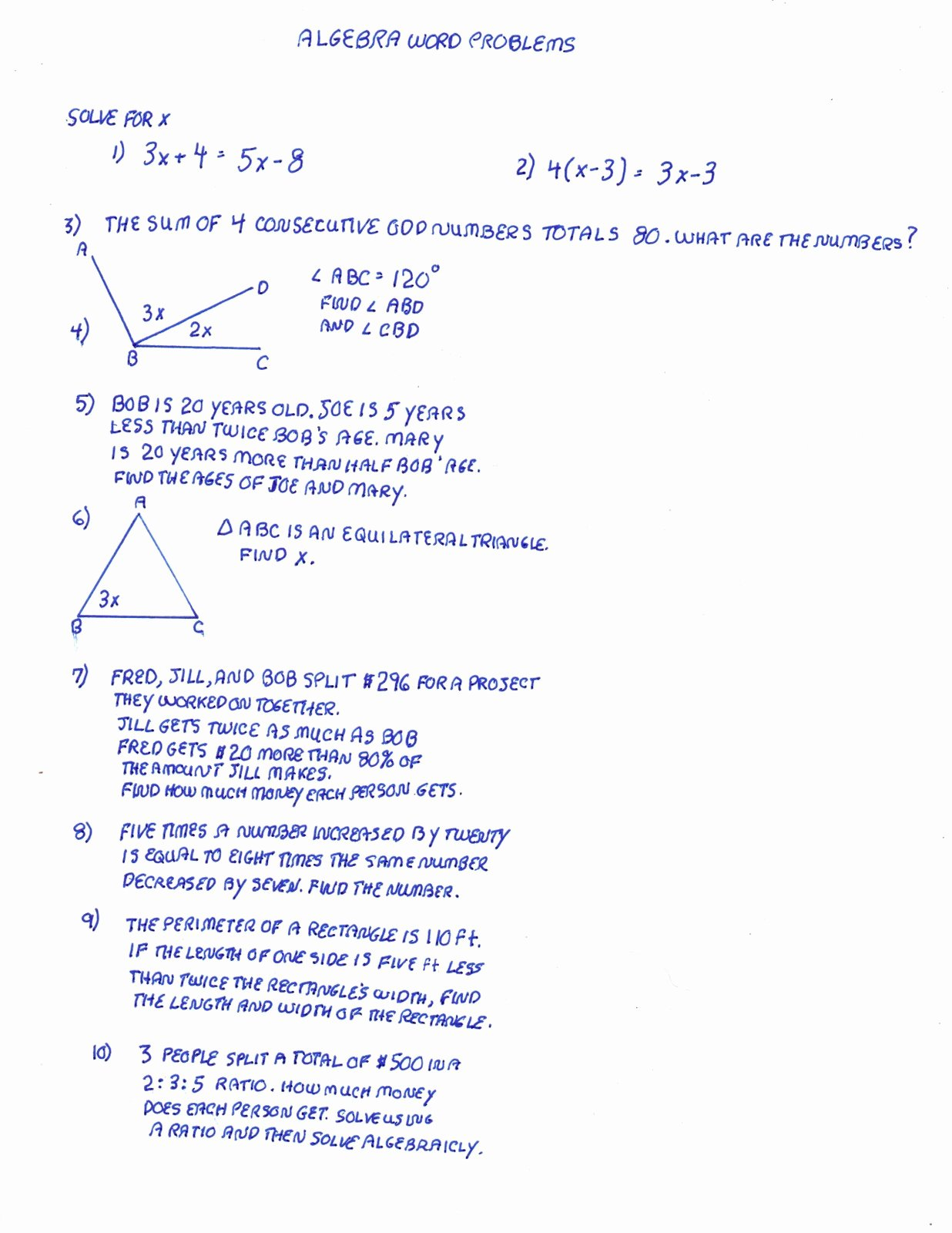 Algebra 2 Word Problems Worksheet New Algebra Word Problem solver Free Line Algebra Homework