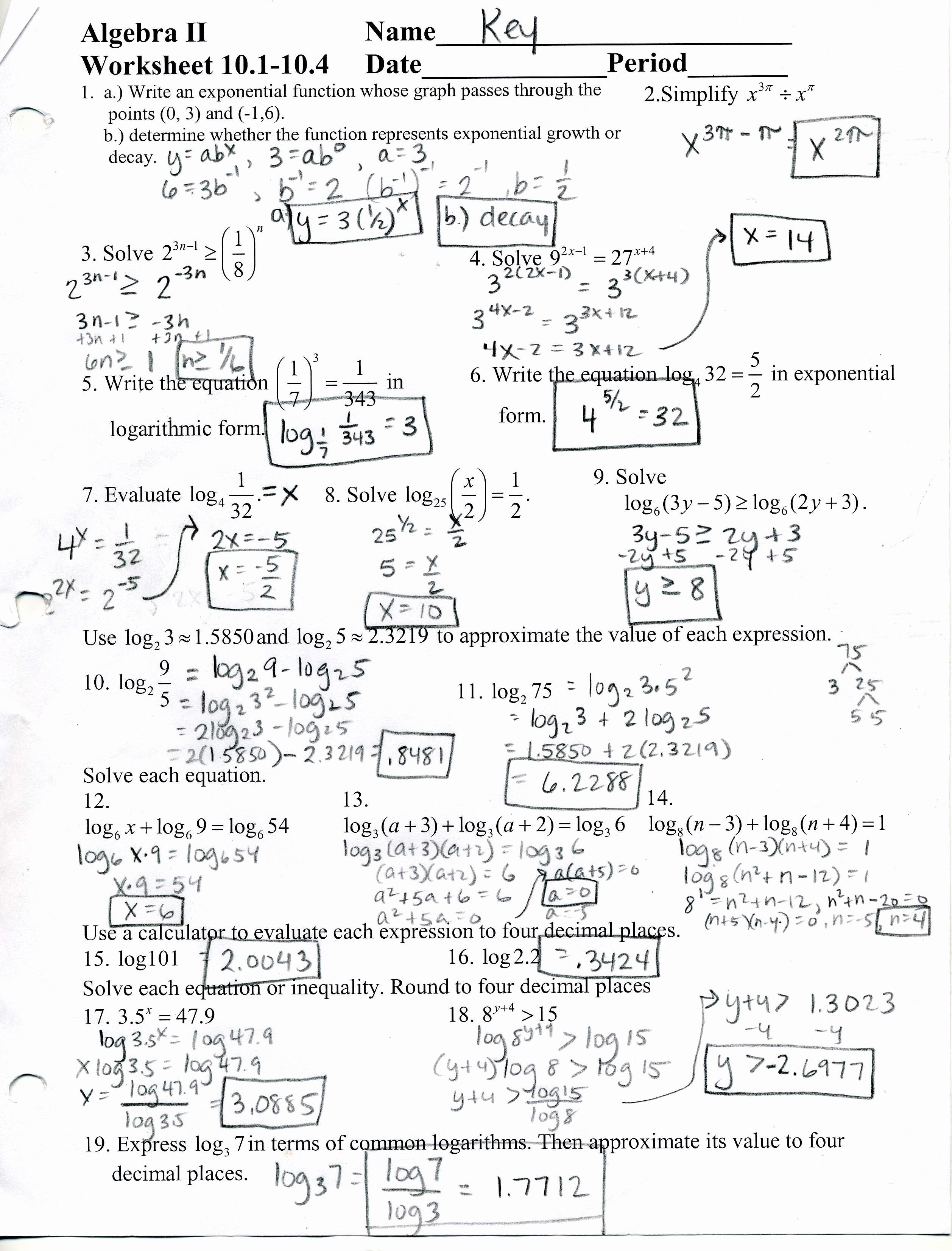 Algebra 2 Worksheet Pdf Fresh Mrscabral Algebra 2 Worksheet Answers