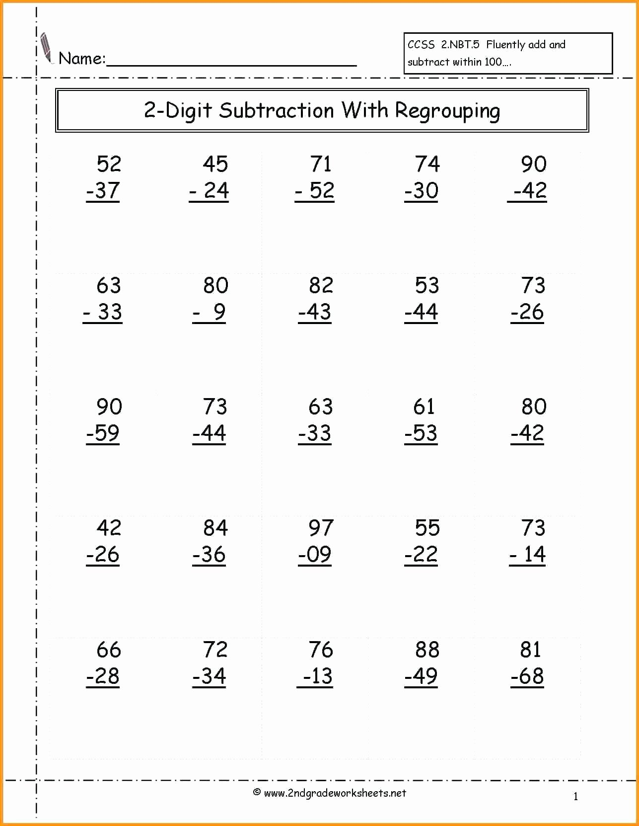 Algebra 2 Worksheet Pdf Lovely 2nd Grade Math Worksheets Pdf Math Worksheet for Kids