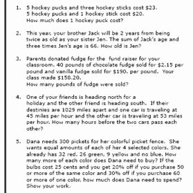 Algebra Word Problems Worksheet Pdf Awesome 8th Grade Math Word Problems Worksheets