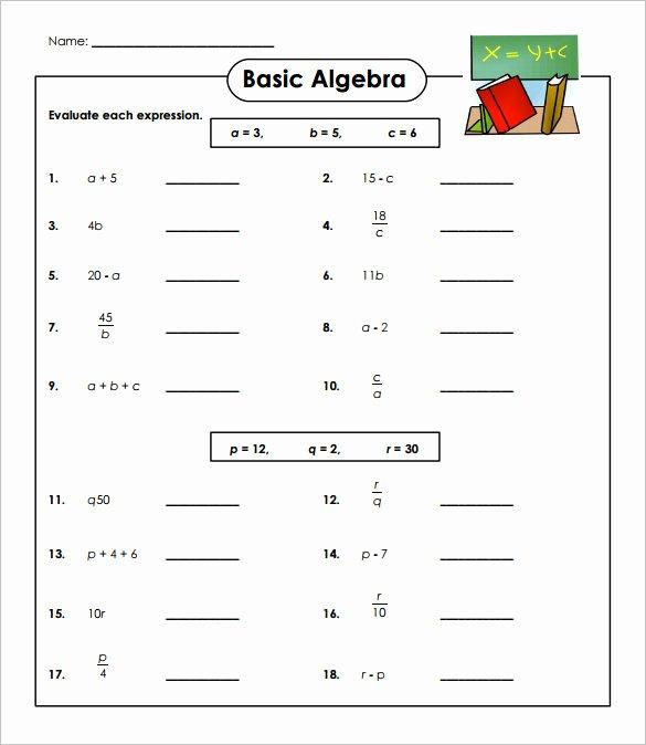 Algebra Word Problems Worksheet Pdf Best Of Basic Algebra Worksheets