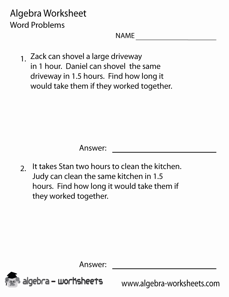 Algebra Word Problems Worksheet Pdf Fresh Print the Free Pre Algebra Word Problems Worksheet