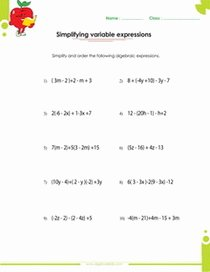 Algebraic Expressions Worksheet Pdf Best Of Algebraic Expressions Pdf Printable Worksheets with Integers