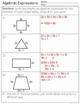 Algebraic Expressions Worksheet Pdf Inspirational Expressions Worksheet and Foldable by the Clever Clover