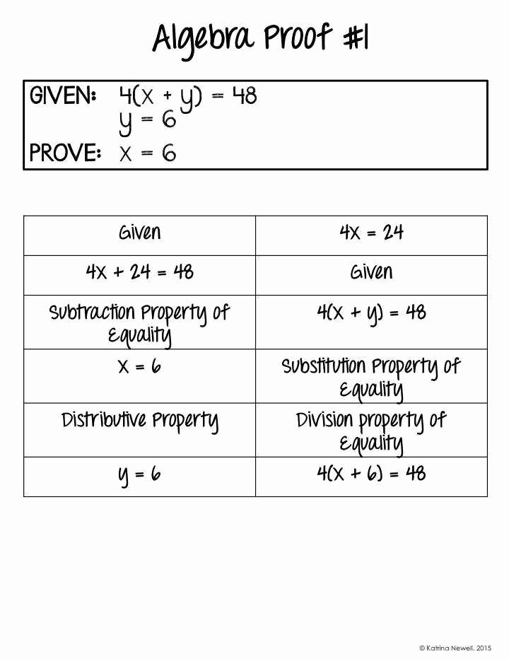 Algebraic Proofs Worksheet with Answers Best Of Algebraic Proofs Worksheet