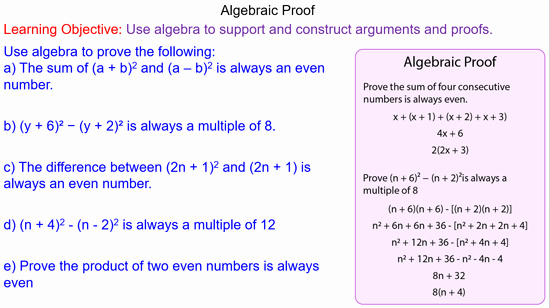 Algebraic Proofs Worksheet with Answers Fresh Algebraic Proof Mr Mathematics