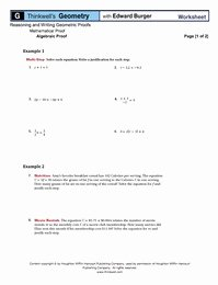 Algebraic Proofs Worksheet with Answers New Free Worksheet On Algebraic Proofs Ficial Thinkwell