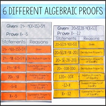 Algebraic Proofs Worksheet with Answers Unique Algebraic Proofs Activity by Amazing Mathematics