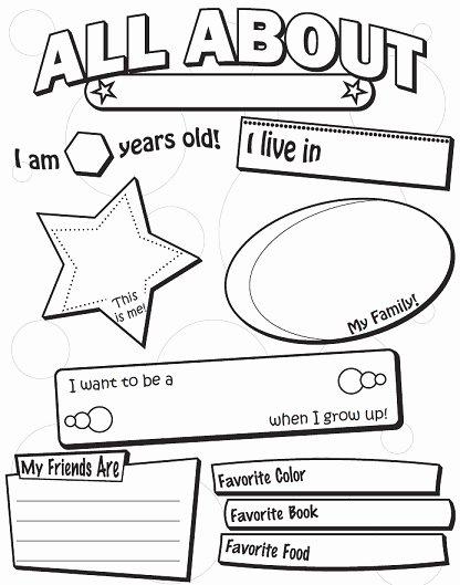 All About Me Printable Worksheet Elegant A Back to School Worksheets