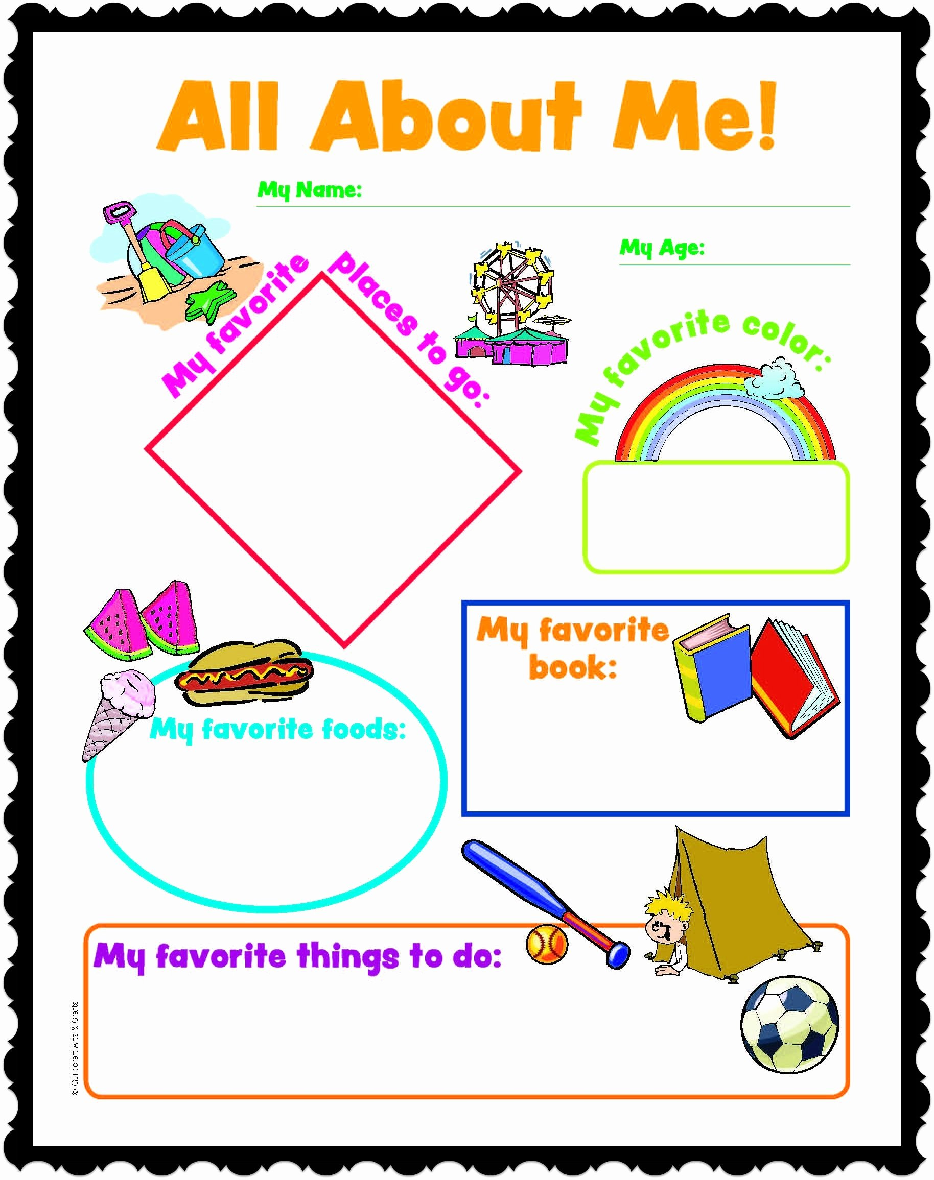 All About Me Printable Worksheet Fresh All About Me Printables