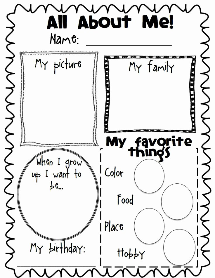 All About Me Printable Worksheet Fresh todo Acerca De Mi Blank Pdf Google Drive