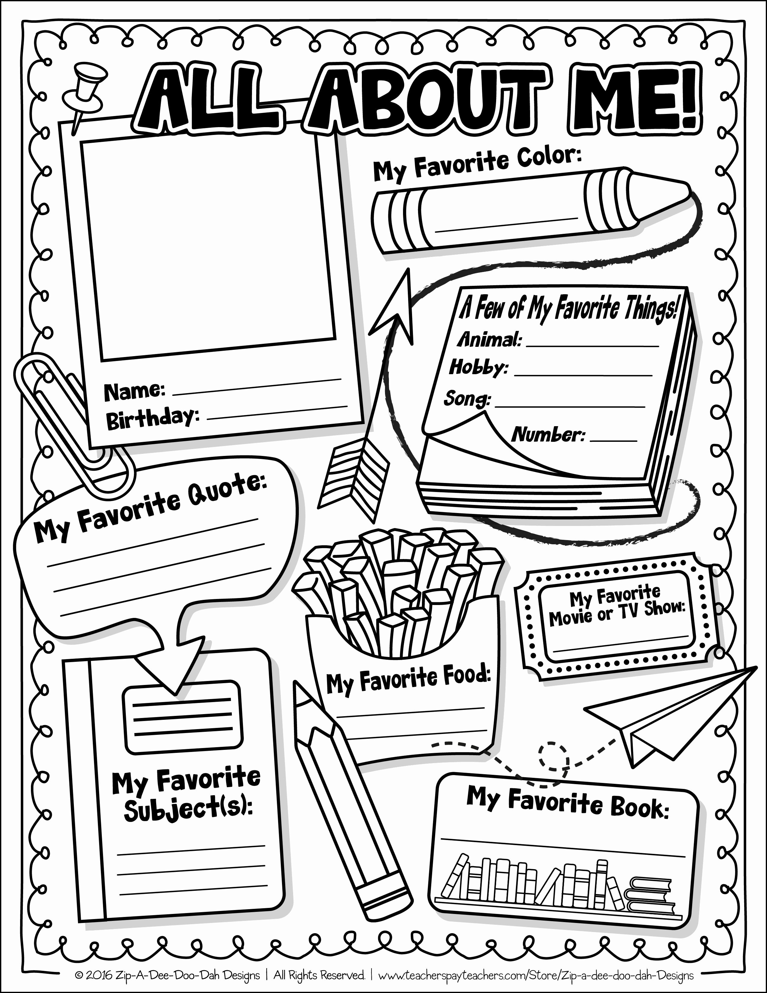 All About Me Printable Worksheet Luxury Pin On Teacher Crap