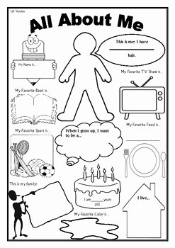 All About Me Printable Worksheet New All About Me Worksheet First Day Of School Activity