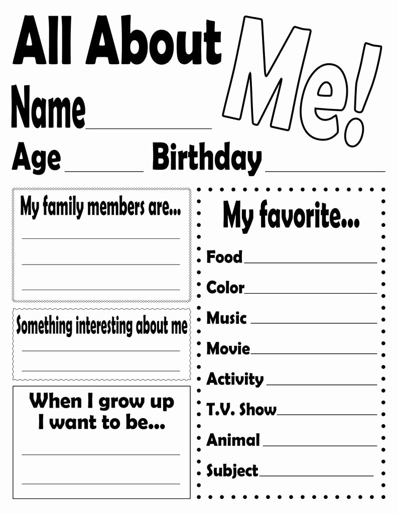 "All About Me Printable Worksheet New ""all About Me "" Free Printable Worksheet – Supplyme"