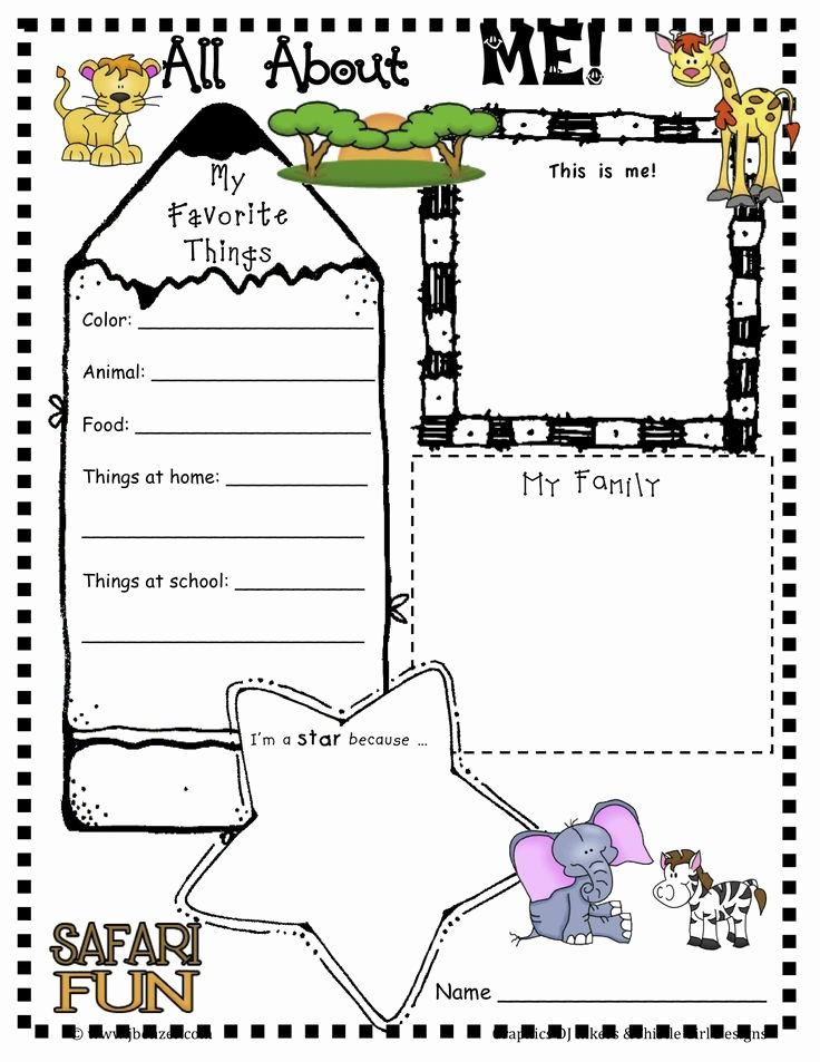 All About Me Printable Worksheet Unique 137 Best Preschool All About Me Images On Pinterest