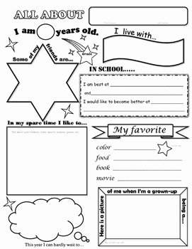 All About Me Printable Worksheet Unique All About Me Worksheet by Carol Marit