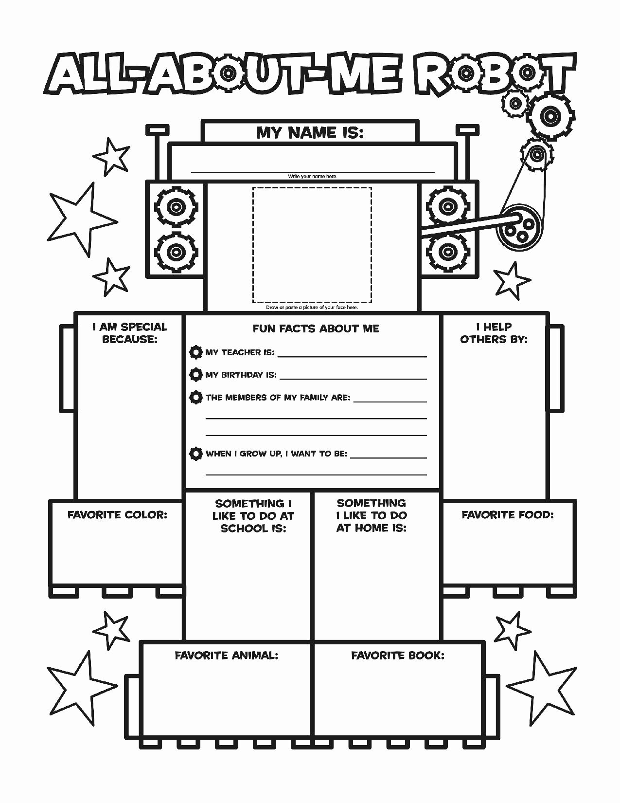 All About Me Printable Worksheet Unique All About Me Worksheetstake the Pen