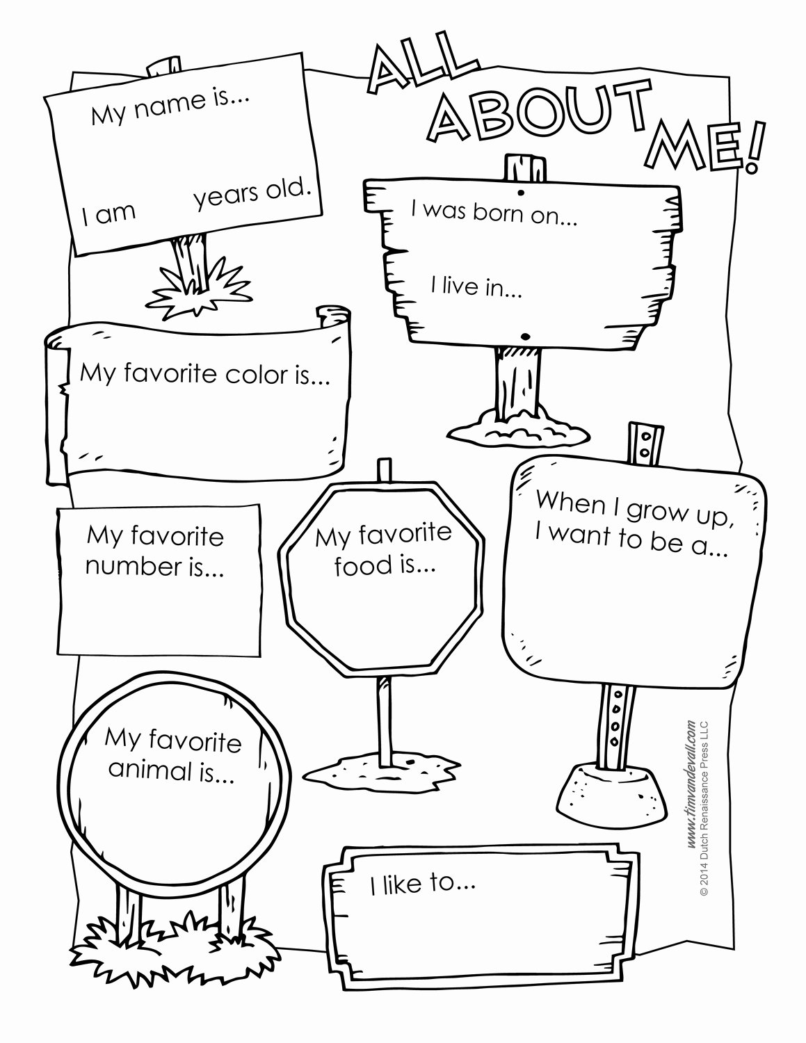 All About Me Worksheet Awesome 6 Best Of All About Me Printable Template All