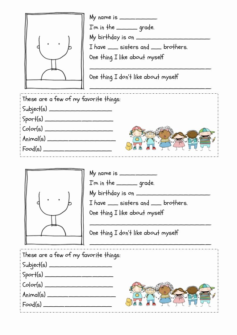 All About Me Worksheet Awesome All About Me Worksheet